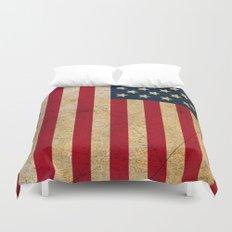 Vintage American Flag Duvet Cover