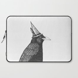 Willem Dacrowe Crow Wearing a Witch's Hat Laptop Sleeve