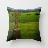 cross Throw Pillows featuring Cross by Ashley Hirst Photography