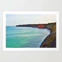 Normandy Beaches Art Print