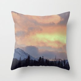Serenity Rose Mt Sunrise Throw Pillow