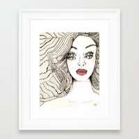 charmaine Framed Art Prints featuring Confessions by Hailey Jayne