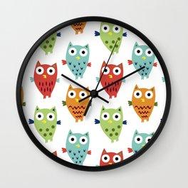 Owl Fun Wall Clock