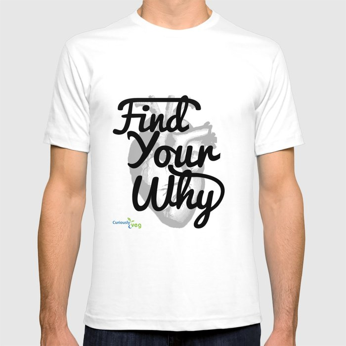 Find Your Why - Black Text T-shirt