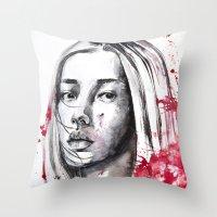 asia Throw Pillows featuring asia by Lua Fraga