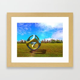 Apple Orchard Abstract Framed Art Print