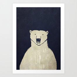 Polar Bear - Stars Up Above Art Print