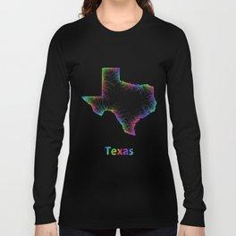 Rainbow Texas map Long Sleeve T-shirt