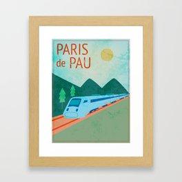 Paris to Pau Framed Art Print