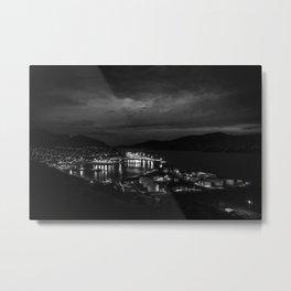 Harbour Night Sky Metal Print