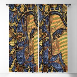 Yellow and Green Face Blackout Curtain