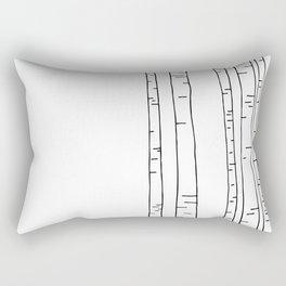 Minimal birches Rectangular Pillow