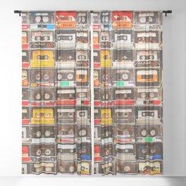 Something Nostalgic V - Music - Global Language #decor #society6 #buyart Sheer Curtain
