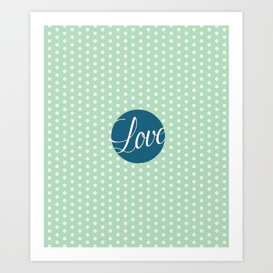 Dotted Love Art Print
