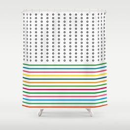 stripes & rings Shower Curtain
