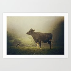 Dairy day Art Print