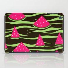 Watermelon on black background . 1 . iPad Case