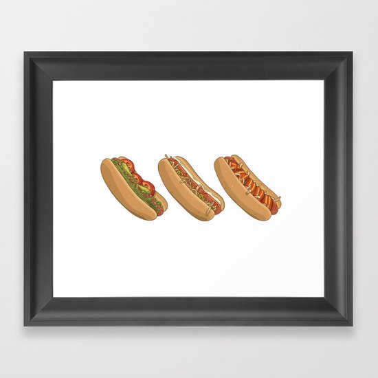 City Dogs Framed Art Print