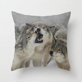Family Squabble Throw Pillow