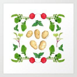 Potatoes Paradise Art Print