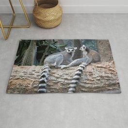 Lemurs on a log Rug