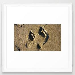 Footstep Framed Art Print