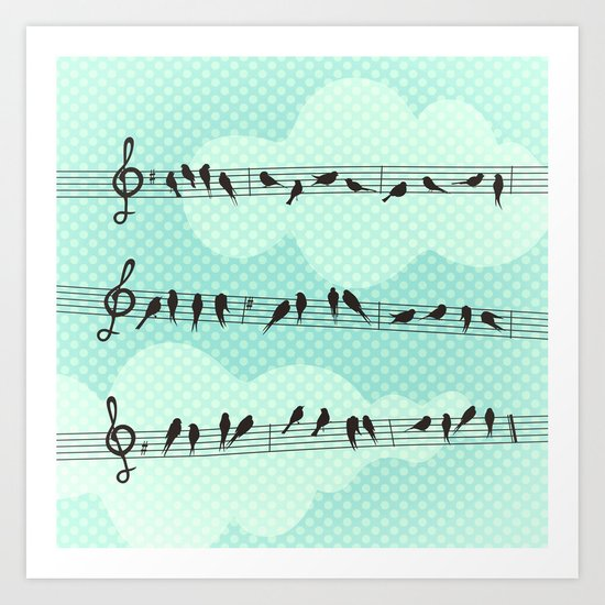 Musical Nature Art Print