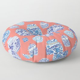 Chinoiserie Ginger Jar Collection No.4 Floor Pillow