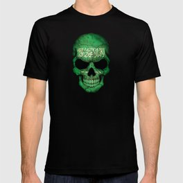 Dark Skull with Flag of Saudi Arabia T-shirt