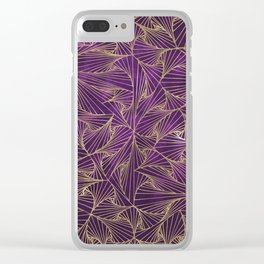 Tangles Violet and Gold Clear iPhone Case