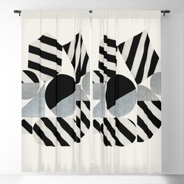 Abstraction_Geometric_SHAPES Blackout Curtain