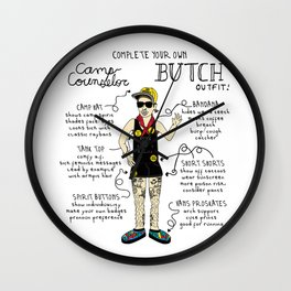 Complete Your Own Camp Counselor Butch Outfit! Wall Clock