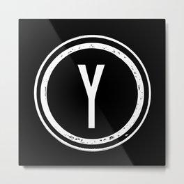 Letter Y Monogram Metal Print