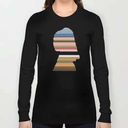 Girl with a Pearl Earring - Swipe Long Sleeve T-shirt