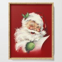 Vintage Santa Serving Tray