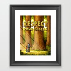 Respect Your Elders Framed Art Print