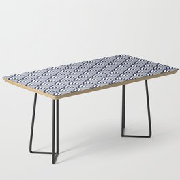 Navy Blue Wave Coffee Table