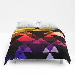 Bright Modern Trangles Comforters