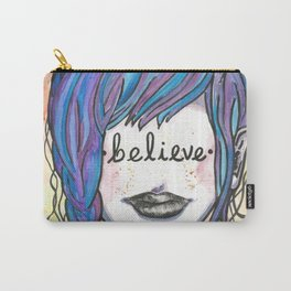 "Words Within: ""Believe"" Carry-All Pouch"
