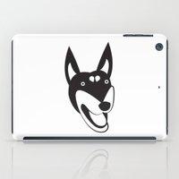doberman iPad Cases featuring Doberman by anabelledubois