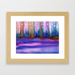 Bubble Forest Framed Art Print