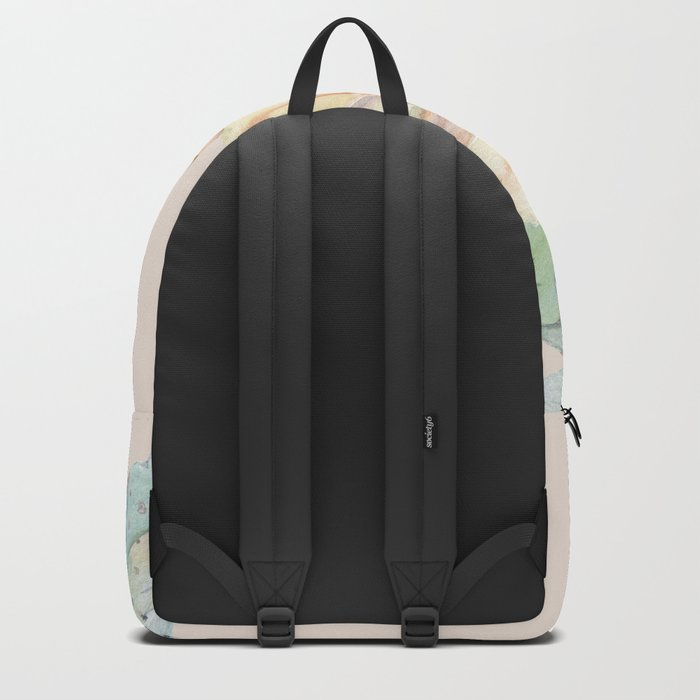 Country Cactus Coral Roses Backpack