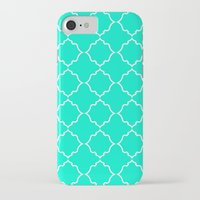 moroccan iPhone & iPod Cases featuring Moroccan Aqua by Jenna Mhairi