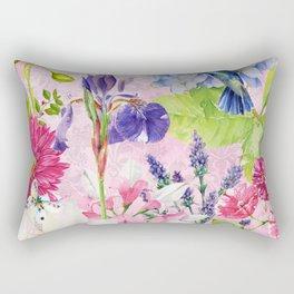 English Garden pink Rectangular Pillow