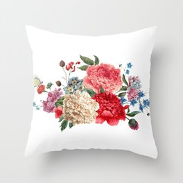 Beautiful BLUE, PINK AND YELLOW - Butterfly - Jersey Beauty Flower Throw Pillow