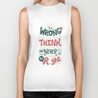 risa rodil Biker Tanks featuring Never Be Right by Risa Rodil