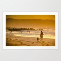 Hawaiian Beach Sunset Art Print