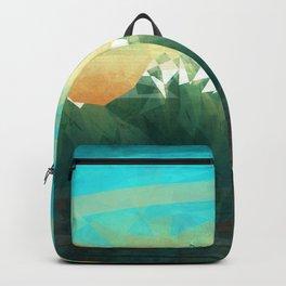 Mountains abowe the blue sky Backpack