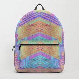 Zig Zag Pattern Playtime   Watercolor Art Print   Light Purple Backpack
