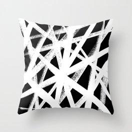 So Cross White Throw Pillow